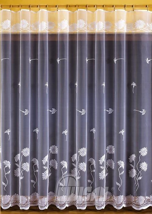 Nowoczesne Firany żakardowe Na Metry 651 D 115 Wysokość 150 Cm Biały