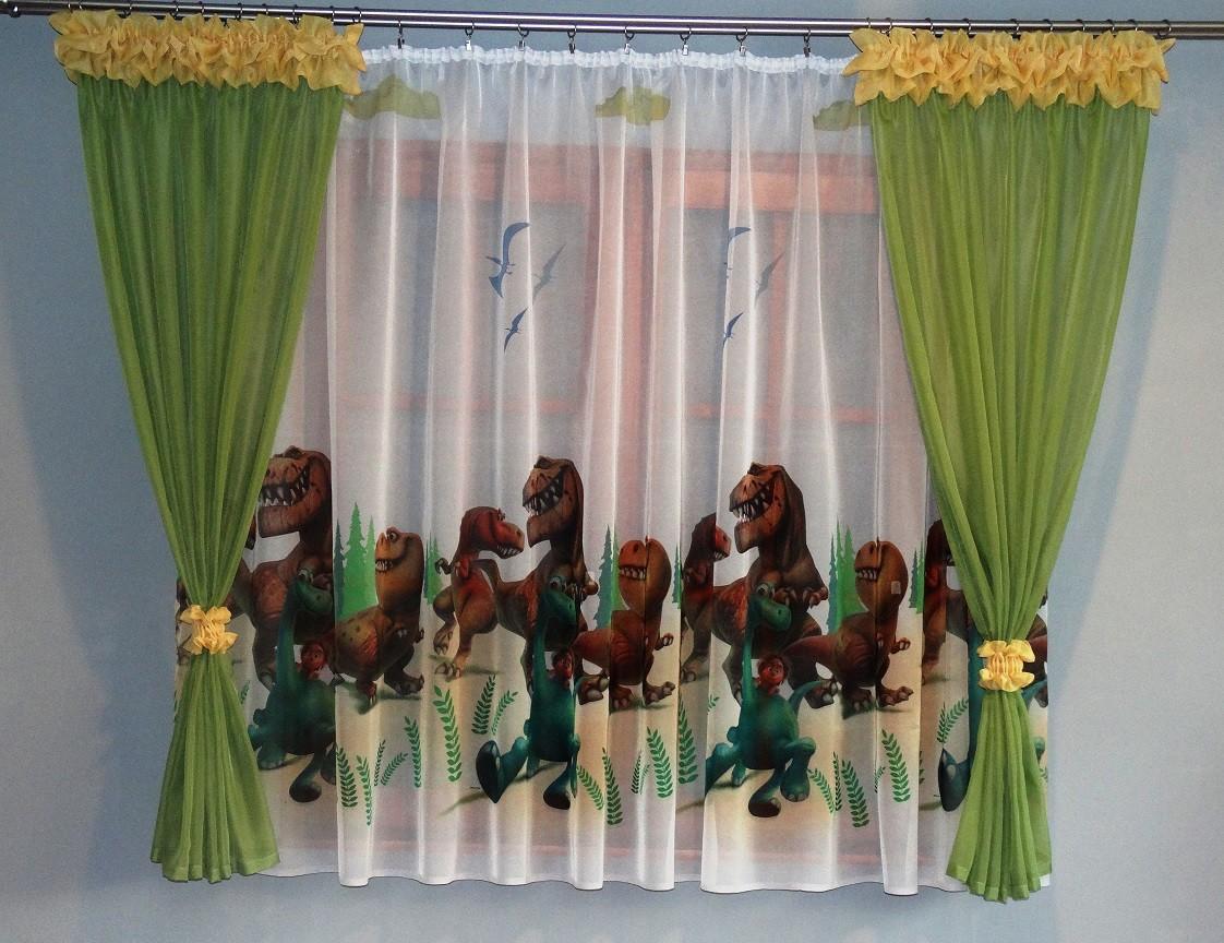Firanki I Zasłonki Dla Dzieci Dobry Dinozaur 150x300 Cm